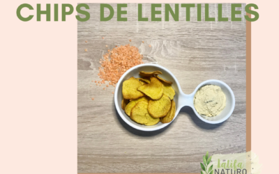 Chips de lentilles corail.